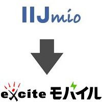 IIJmioからエキサイトモバイルへ